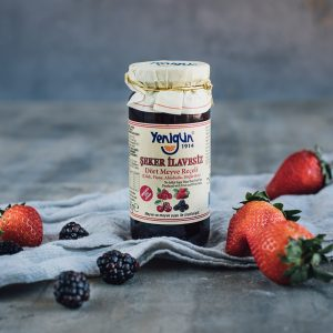 Sugar free jam with 4 types of berries, 290 G