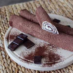 Rolled Turkish delight with cacao, coated with cacao (200 G)