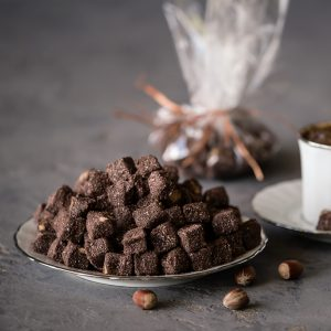 Turkish delight cubes with hazelnuts and cacao (200 G)